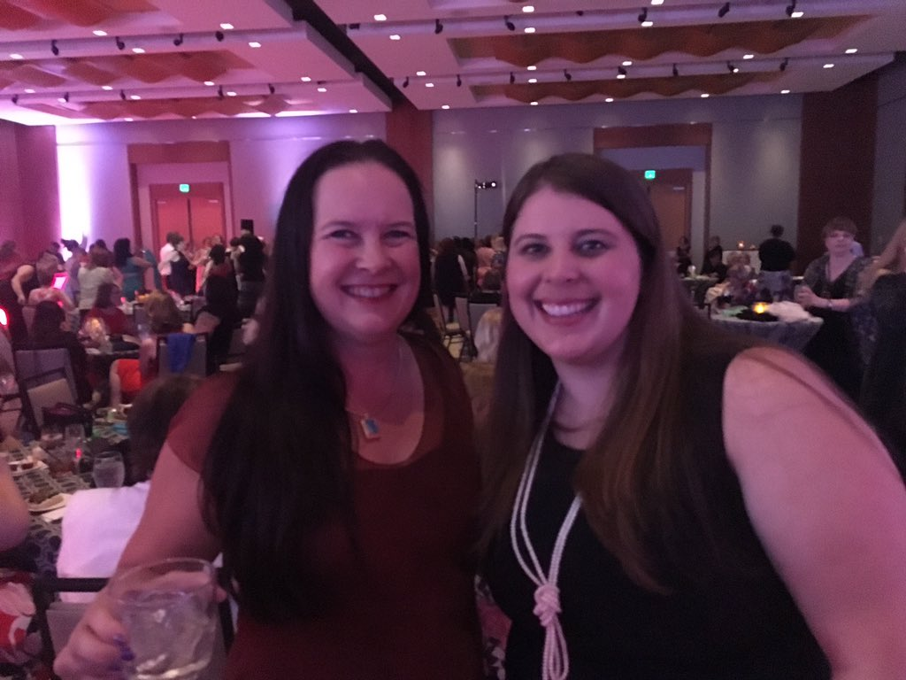 Sarah Younger and Jeffe Kennedy at RWA 2016